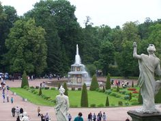 Peterhof Palace Garden and fountains Russia