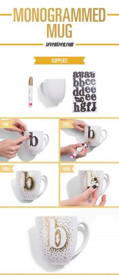 DIY Monogrammed Mug