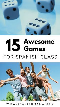 What are the top Spanish games for class right now? Try these fun games that deliver lots of comprehensible input for your Spanish classes. Spanish Vocabulary Games, Spanish Classroom Activities, High School Activities, Spanish Games, Spanish Language Learning, School Games, Class Activities, Teaching Spanish, Listening Activities