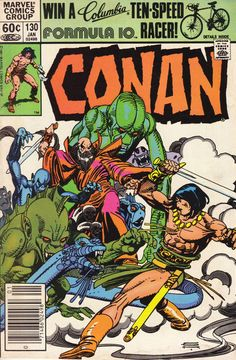 "Conan The Barbarian vol. 1 # ""The Quest Ends!"" (January, Cover by Gil Kane. Marvel Comic Character, Marvel Comic Books, Comic Books Art, Fantasy Heroes, Fantasy Comics, Conan The Barbarian Comic, Conan The Conqueror, Marvel E Dc, Marvel Universe"