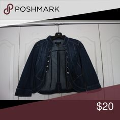 Denim Jacket Denim jacket with silver buttons White House Black Market Jackets & Coats Jean Jackets