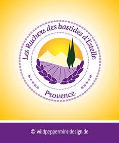 #Logo für Honigprodukte aus der Provence / © wildpeppermint-design.de / #Logogestaltung #Honig #Provence
