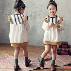 Buy 'J-KIDS – Frilled Shoulder Color-Block Minidress' with Free International Shipping at YesStyle.com. Browse and shop for thousands of Asian fashion items from South Korea and more!