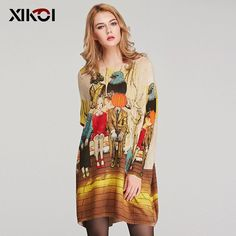 Cheap knitted women, Buy Quality knitted women sweater directly from China fashion women sweater Suppliers: XIKOI Autumn Casual Women Sweater Fashion Batwing Sleeve Print Slash Neck Pullovers Computer Knitted Women's Sweaters Clothes Fashion 2017, Trendy Fashion, Fashion Outfits, Latest Fashion, Womens Fashion, Fashion Trends, All About Fashion, Passion For Fashion, Pretty Outfits
