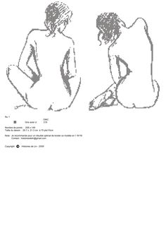 nu-nude-broderie-cross stitch-Point de croix-punto de cruz-Embroidery