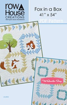 Fox in a Box Downloadable PDF Quilt Pattern Row House Creations - Fat Quarter Shop