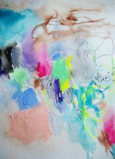 'Tart' Mixed-Media Original Painting by Autumn Rose modern artwork