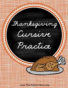 (freebie) Thanksgiving themed handwriting pages help students practice cursive letter connections using traditional Thanksgiving words. Learn Handwriting, Improve Your Handwriting, Handwriting Analysis, Cursive Handwriting, Handwriting Worksheets, Thanksgiving Worksheets, Thanksgiving Words, Teacher Freebies, Classroom Freebies