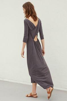 EUGINA COTTON SLUB CROSS BACK MAXI DRESS, Velvet by Graham & Spencer $139. http://velvet-tees.com/women/the-latest/new-arrivals/eugina-cotton-slub-cross-back-maxi-dress.html