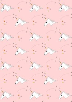 FREE printable unicorn pattern paper | by meinlilapark