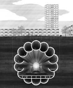 The 18th Mile of HS2 by RCA graduate Ciaran Scannell suggests extending the underground network to add cultural spaces