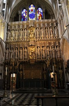 The saints screen in the Choir of Southwark Cathedral