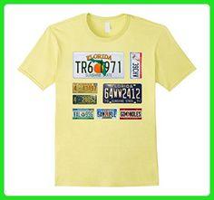 Mens State of Florida T Shirt with license plate retro - 5 colors Large Lemon - Retro shirts (*Amazon Partner-Link)