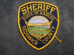 E716] Obsolete Police Patch  Sheriff State of Kansas Sedgwick County