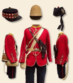 75th Foot- typical Active service kit of the Zulu War. Capt Baynes wore the forage cap in the upper left portion of the pin.