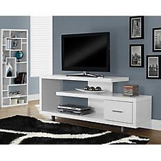 Tv Stand 60 Inch L White With 1 Drawer White Tv Stands Simple Tv White Tv Cabinet