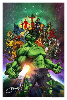 #Hulk #Fan #Art. (World War Hulk!!) By: Michael Taylor. (THE * 5 * STÅR * ÅWARD * OF: * AW YEAH, IT'S MAJOR ÅWESOMENESS!!!™) ÅÅÅ+