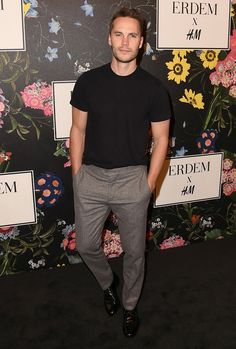 Taylor Kitsch at the H&M x Erdem runway show