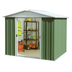 arrow 10x6 woodvale apex metal shed mewv106 10x6 woodvale apex metal shedthis woodvale 10x6 apex metal shed is ideal for securely protecting and s