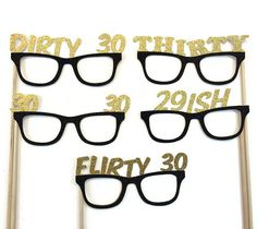 Photo Booth Props Dirty 30 Birthday 30th by CraftingbyDenise