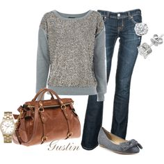sequins sweatshirt, created by gustinz.polyvore.com