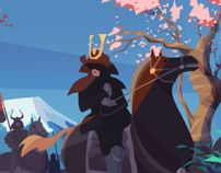 Samurai by Ariel Belinco, via Behance
