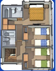 planos de casas de dos pisos terreno 6×15