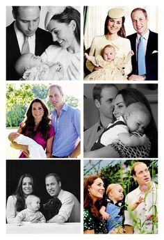 The Duke and Duchess of Cambridge with their beautiful baby boy Prince George
