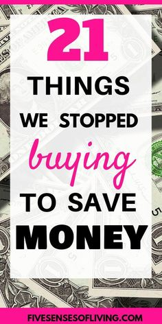 Looking for ways to save money? Check out this list of 21 things to stop buying to save money! Learn how you can cut simple expenses at home and start saving money! Simple money saving tips that can make a big difference! It may seem like little expenses, Save Money On Groceries, Ways To Save Money, Money Tips, Money Saving Tips, Money Hacks, Saving Ideas, Money Savers, Frugal Living Tips, Frugal Tips