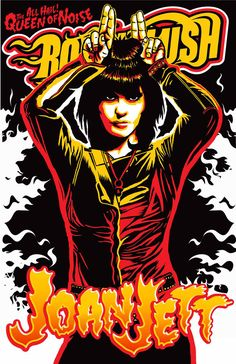 Joan Jett Classic rock music concert poster psychedelic ☮ ☮❥Hippie Style❥☮☮
