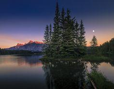 Dusk at 2 Jack Lake by David Dai - Photo 136534157 - 500px