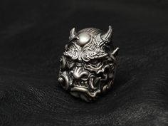 Lunatic Nights | Rakuten Global Market: Dual Flow [怒神 Ring] (silver accessory / Silver925 / ring /skull ring)