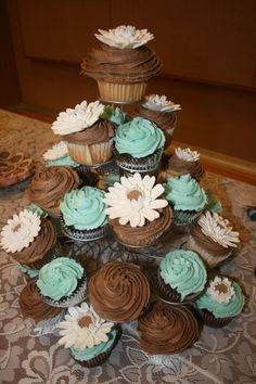 tiffany blue & brown themed wedding ideas