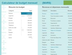 Gérez vos dépenses et revenus mensuels à l'aide de ce modèle de budget simple d'utilisation. Définissez des catégories pour vos dépenses afin de déterminer l'usage que vous faites de votre argent.