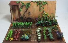 DIY Miniature Garden Hacks & Decoration - New ideas Miniature Plants, Miniature Rooms, Miniature Houses, Miniature Gardens, Diy Dollhouse, Dollhouse Furniture, Dollhouse Miniatures, Fairy Garden Houses, Hobbit Garden