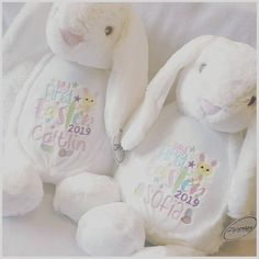 This item is unavailable New Baby Gifts, Girl Gifts, Easter Gift, Easter Bunny, Personalized Toddler Backpack, Easter Pajamas, Personalised Teddy Bears, Easter 2021, 1st Birthdays