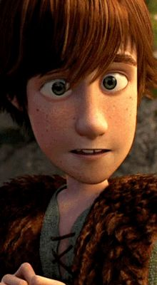 Younger and Older Hiccup. Seriously the only thing that changes is that his eyes are less cross-eyed.