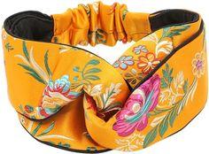 Beautiful Tokyo Printed Silk Knot Headband - Gucci Hair Accessories