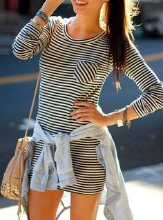 Stripe Sweater dress<3