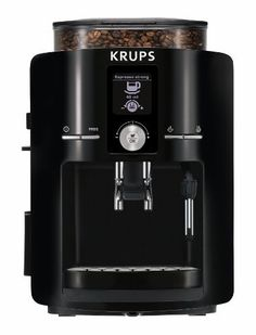 KRUPS Espresseria Fully Automatic Espresso Machine Coffee Maker with Built-in Conical Burr Grinder, Black: Super Automatic Pump Espresso Machines: Kitchen & Dining Best Home Espresso Machine, Espresso Machine Reviews, Coffee Maker Reviews, Automatic Espresso Machine, Best Coffee Maker, Espresso Maker, Espresso Coffee, Coffee Shop, Espresso Parts