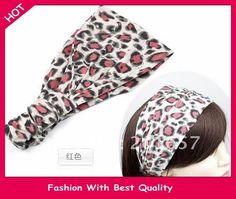 >> Click to Buy << NEW Wholesale fashion rockability leopard stretchable headwrap chic retro wide fabric headband Elastic hairband #Affiliate