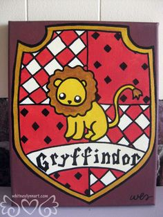 Harry Potter Gryffindor House Crest 8x10 by whitneylynnart, $65.00