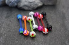 Cool Acrylic Tongue Piercing Jewelry to Try at MyBodiArt Tongue Piercing Jewelry, Barbell Piercing, Body Piercings, Tongue Piercings, Tongue Bars, Tongue Rings, Nipple Rings, Body Jewellery, Seafood Lasagna