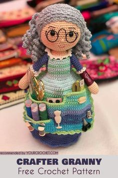 Crafter's Organizer Free Crochet Pattern This beautiful ami doll will be your next project! Visit us for more free amigurumi patterns, crochet toys, baby blankets, afghans and more! Crochet Gratis, Crochet Amigurumi, Cute Crochet, Amigurumi Doll, Crochet Toys, Crochet Dollies, Crochet Baby, Crochet Dolls Free Patterns, Crochet Doll Pattern