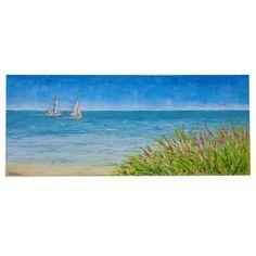"""ULTIMA CREAZIONE!!!! """" Paesaggio di mare con barche """" Acrilico spatolato su tela, con glitter e sabbia di vetro per le decorazioni. Colori chiari ispirano un mare caraibico, solcato da due barche sullo sfondo. Semplice e fresco nelle sue tonalità è ideale per una casa al mare come anche in ambienti moderni."""