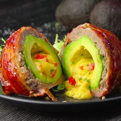 Bacon-Wrapped Avocado Bombs: Your New Favorite Keto Recipe Easy Bacon Recipes, Bacon Recipes For Dinner, Recipes Breakfast Video, Avocado Recipes, Healthy Breakfast Recipes, Easy Healthy Recipes, Appetizer Recipes, Salmon Recipes, Keto Recipes