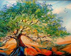 Oak Tree | OLD OAK TREE - by Marcia Baldwin from Landscapes