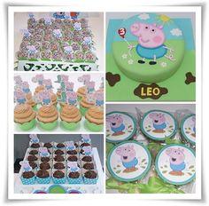 Diy Birthday Food, Pig Birthday, 2nd Birthday Parties, Happy Birthday, Tarta George Pig, George Pig Party, Little Man Birthday, Rio Cake, Party Time