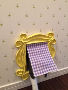 Cute DIY cat door ideas frame with flapsetting frame from : Friends Yellow Peephole Frame by CoolTVProps on Etsy http://etsy.me/n5chwf