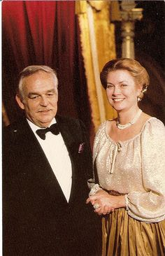 Princess Grace and Prince Rainier of Monaco.
